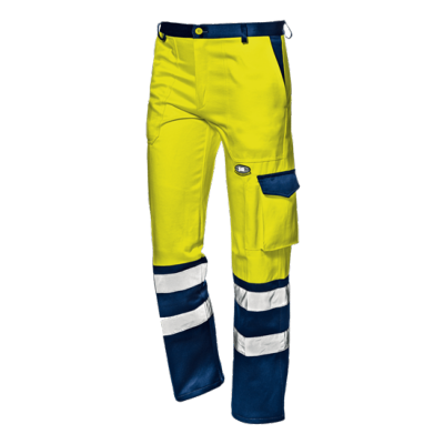 Pantalone Velvet Color Giallo/Blu