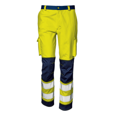 Pantalone Flash Color Giallo/Blu